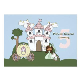 Princess för en dag - fotofödelsedagsfest Invitati 12,7 X 17,8 Cm Inbjudningskort
