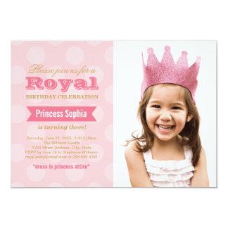 Princess för fotofödelsedagsfest inbjudan | i