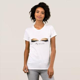 Princess för namn för skönhet för Makeupsnärtsvart Tee Shirt
