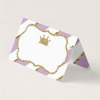 Princess Förlägga Kort, matkort, Fauxguld Placeringskort