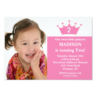 Princess Foto Födelsedag Inbjudan