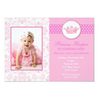 Princess Foto Födelsedag Inbjudan 12,7 X 17,8 Cm Inbjudningskort