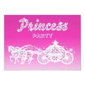 Princess Häst & vagnsfödelsedagsfest 11,4 X 15,9 Cm Inbjudningskort