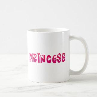 Princess i hjärtor kaffemugg