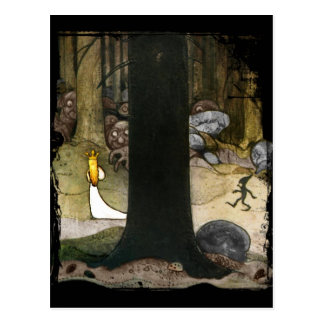 Princess i skogen vykort