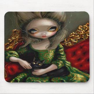 """Princess med en svart katt"" Mousepad Musmattor"