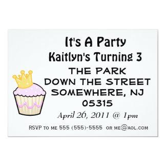 Princess Muffin Den är ett party Inbjudningskort