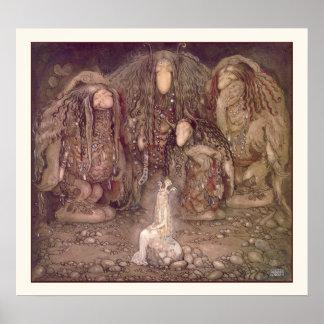 Princess och trollen av John Bauer Poster