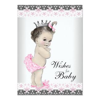 Princess Önskemål för babykortbaby shower 11,4 X 15,9 Cm Inbjudningskort