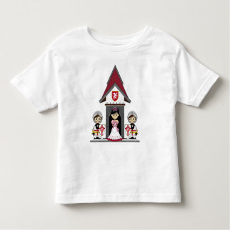 Princess & riddare på den mini- slottT-tröja Tee Shirt