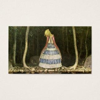 Princesss Reflexion i bassängen Visitkort