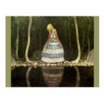 Princesss Reflexion i bassängen Vykort