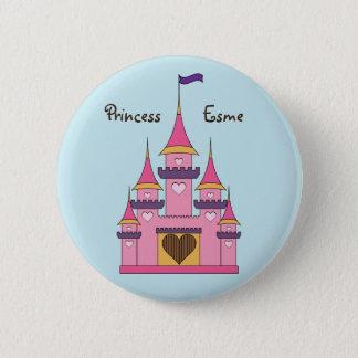 Princesss slottet för royal knäppas standard knapp rund 5.7 cm