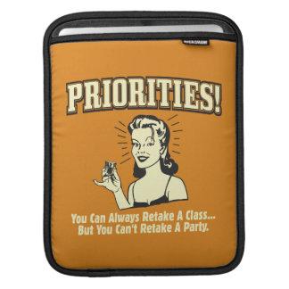 Prioriteter: Du kan alltid Retake en klassificera iPad Sleeve