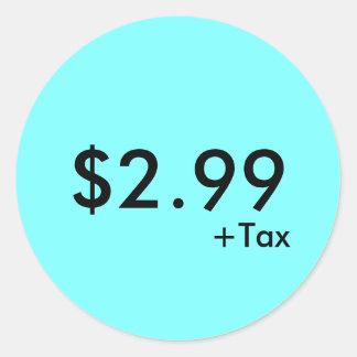 Pris etikett med skatt