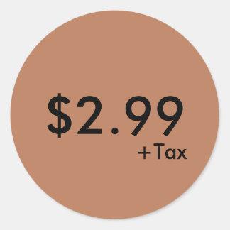 Pris etikett med skatt runt klistermärke