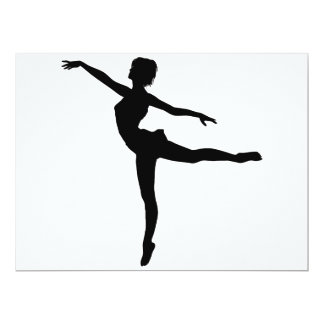 PRIVAT ~ för DANSARE (silhouetten - modern dans) 16,5 X 22,2 Cm Inbjudningskort