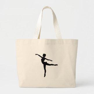 PRIVAT ~ för DANSARE (silhouetten - modern dans) Jumbo Tygkasse