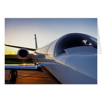 Privat jetflygplan hälsningskort