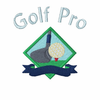 Pro för Golf med den broderade logotypen Broderad Polotröja