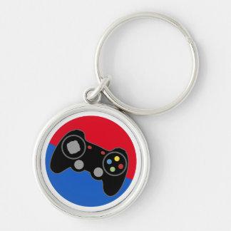 Pro Gamer för liga Rund Silverfärgad Nyckelring