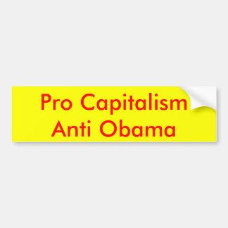 Pro kapitalism Anti Obama Bildekal