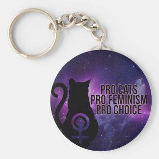 Pro katter, Pro feminism, Pro val Rund Nyckelring