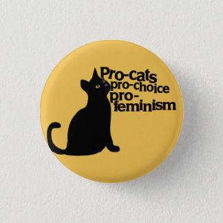 pro-katter pro-prima pro-feminism mini knapp rund 3.2 cm