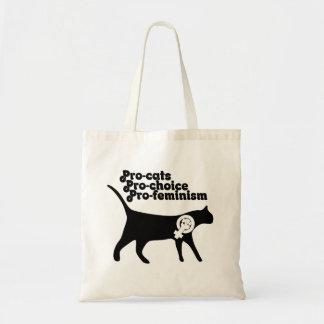 Pro prima pro feminism för Pro katter Tote Bags