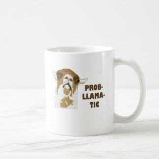 Prob-Llama-Muskelryckning Kaffemugg