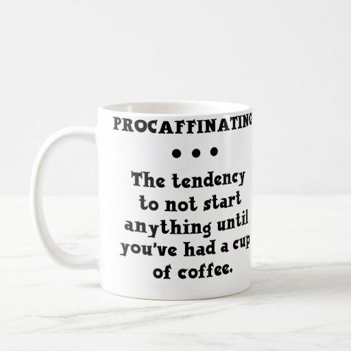 Procaffinating rolig kaffemugg kaffe koppar