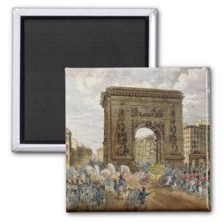 Procession av Pope Pius VII i Paris Magnet