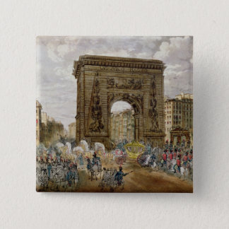 Procession av Pope Pius VII i Paris Standard Kanpp Fyrkantig 5.1 Cm