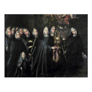 Procession av St. Clare med eucharisten Vykort