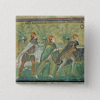 Processionen av de tre kungarna standard kanpp fyrkantig 5.1 cm