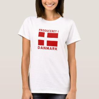 Produceret mig röda Danmark Tee Shirt