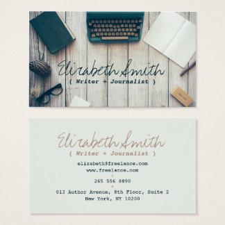 Professionell för skrivmaskin för vintage för visitkort