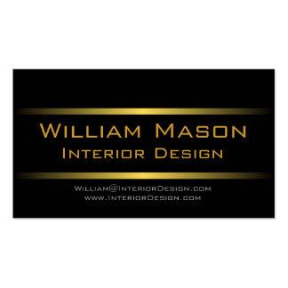 Professionellvisitkort för två guld- randar set av standard visitkort