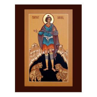 Profet Daniel i lion'sens kortet för hålabön Vykort