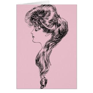 Profilera av en Gibson Flicka, 1903 OBS Kort