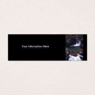 profilera eller visitkorten, vattenfall litet visitkort