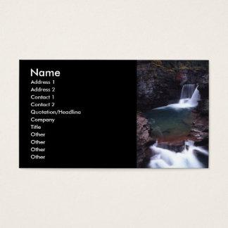 profilera eller visitkorten, vattenfall visitkort