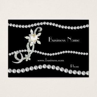 Profilera kortaffären som utsmyckade pärlor pryder visitkort
