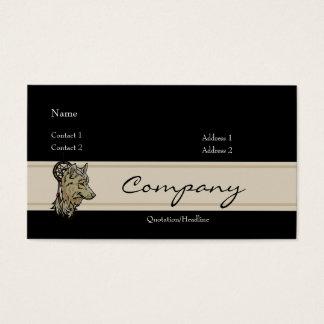 Profilera kortet - varg visitkort