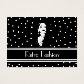 Profilera Retro modevintage 2 för kortet Visitkort