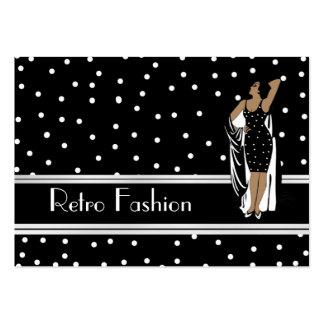 Profilera Retro modevintage för kortet Visit Kort