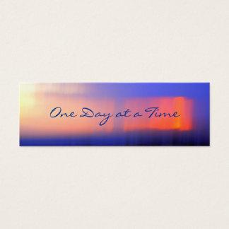 profilerar den abstrakt solnedgången 12-Step Litet Visitkort