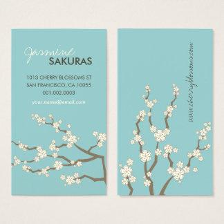 Profilerar den orientaliska asiatet Sakura för Visitkort