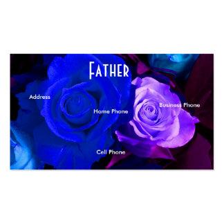 Profilerar purpurfärgade ro för farblått kortet set av standard visitkort