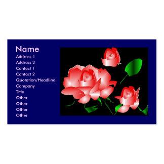 """""""Profilerar rosa rosblomsterhandlaren"""" Set Av Standard Visitkort"""